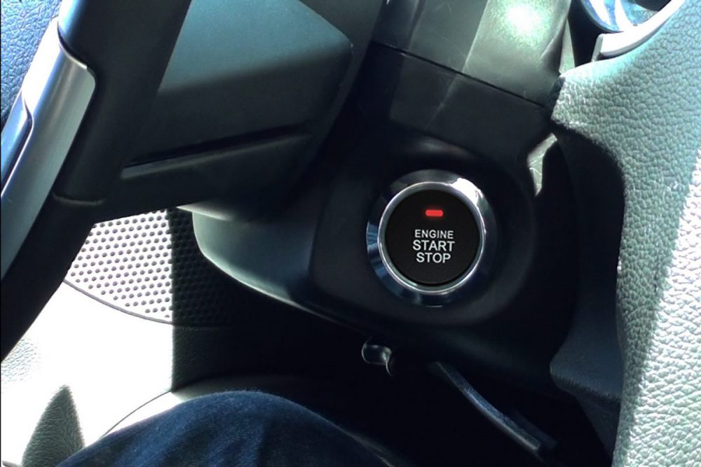 Custom Push Button Installed In Mustang
