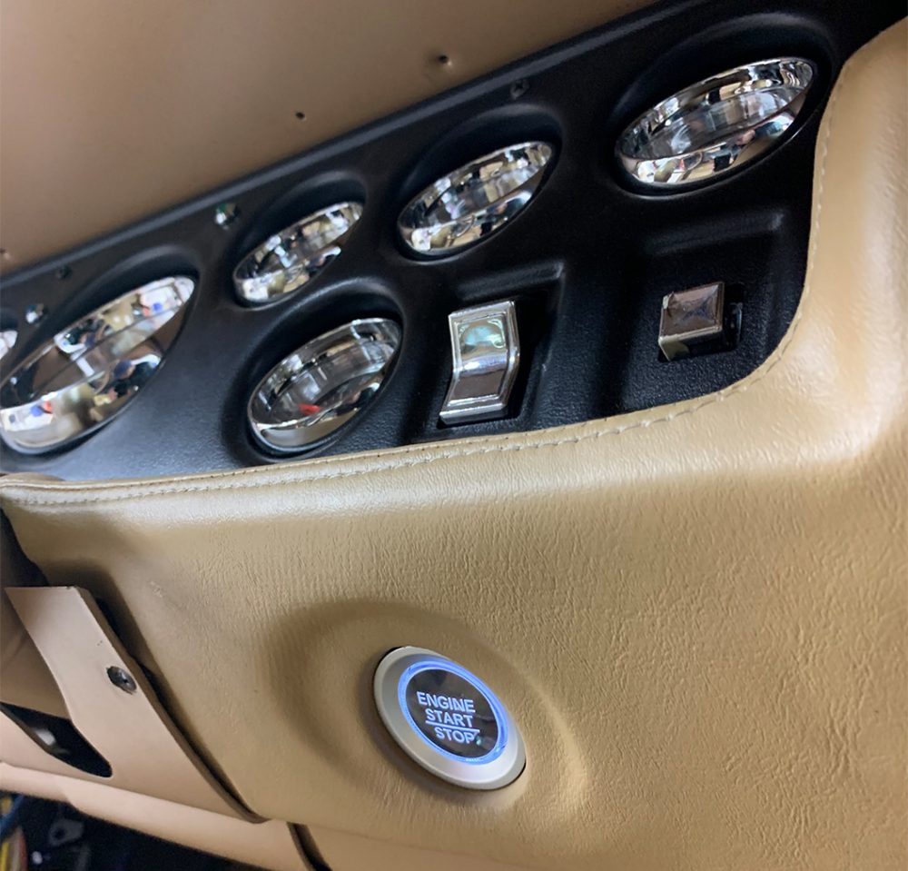Custom Push Button Installed In Muscle Car