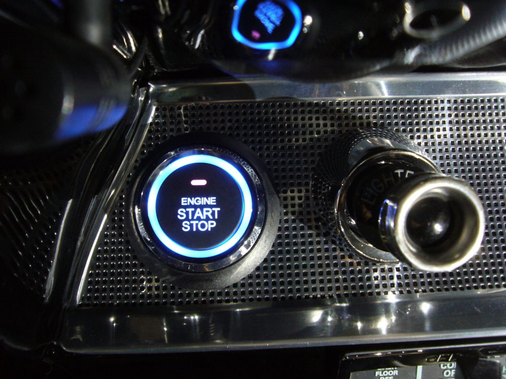 Custom Push Button Installed on Classic Car